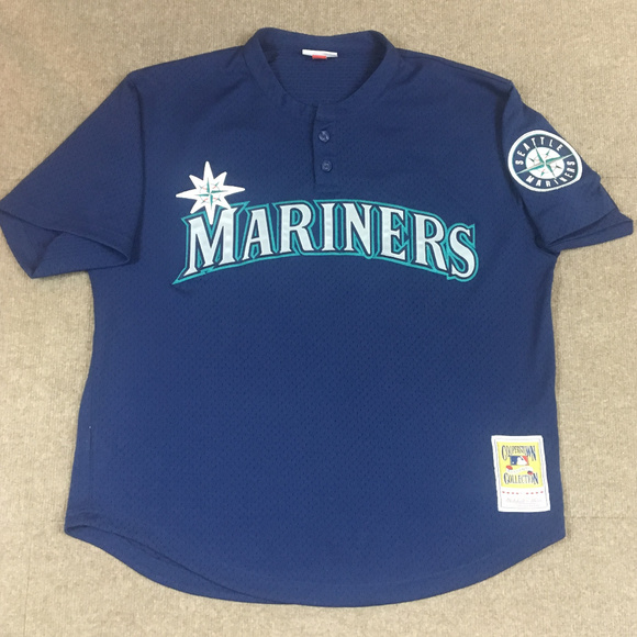 new product 292eb ac9ac Ken Griffey Jr Seattle Mariners BP Jersey XL